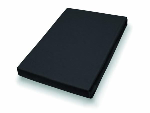 Spannbettlaken 190x200 schwarz