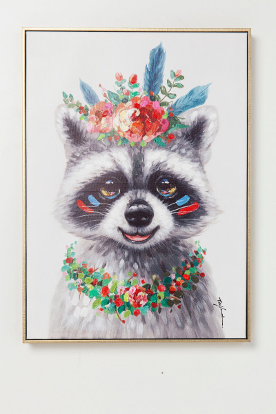 Bild TOUCHED FLOWERS RACCOON