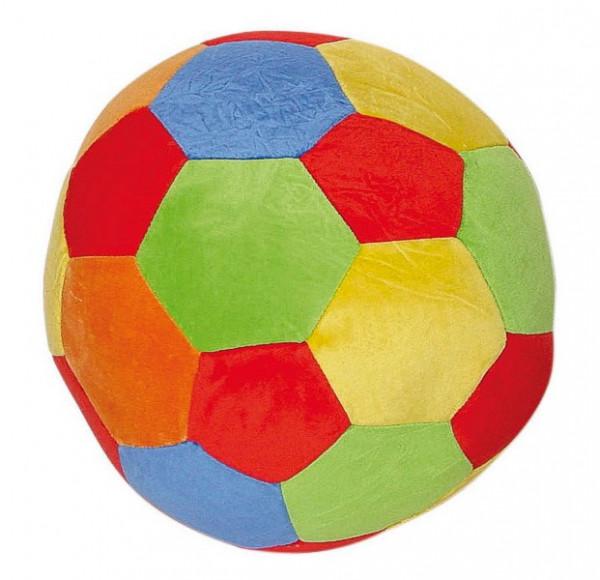 Velour-Ball mit Rassel
